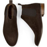 Will's Vegan Store Will's Vegan Store unisex vegan Chelsea Boots Donkerbruin Suede Donkerbruin 43 Gerecycled rubber/Microfibre (micronappa, microsuède)/PU