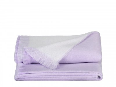 Alpaca Loca Double Plaid Lavender / White