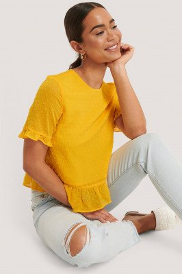 NA-KD Boho Blouse - Yellow