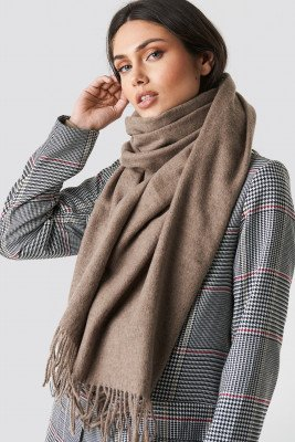NA-KD Accessories NA-KD Accessories Light Wool Blend Scarf - Brown