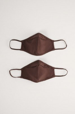NA-KD Accessories NA-KD Accessories 2-Pack Stevige Passende Maskers - Brown