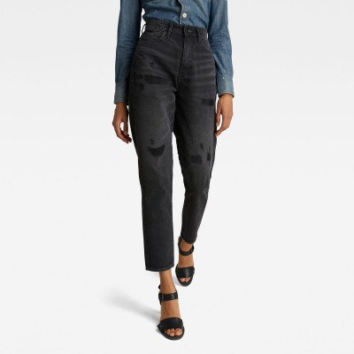 G-Star RAW Janeh Ultra High Mom Ankle Jeans - Zwart - Dames