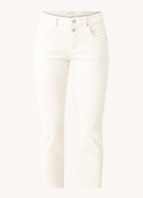 Marc O'Polo Marc O'Polo Theda mid waist straight fit cropped jeans van biologisch katoen