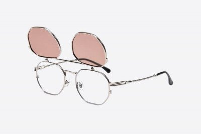 Blank-Sunglasses NL NO NAME. - Silver with pink