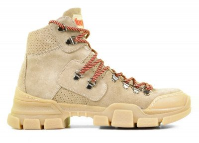 Forty5 Forty5 Cortina Beige Dames Veterboots