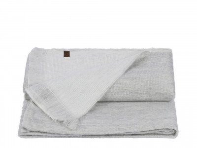 Alpaca Loca Double Plaid Light Grey White