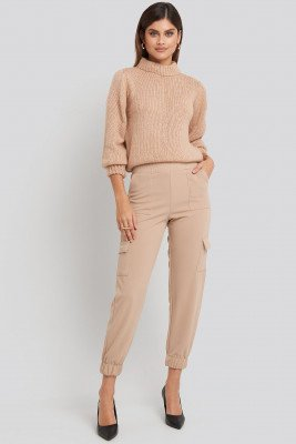 Sisters Point Sisters Point Nupa Pants - Beige