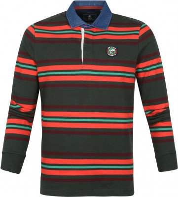 new zealand auckland NZA Polo LS Tinline Donkergroen