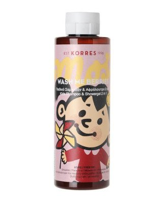 Korres Korres - Wash Me Berries Kids Shampoo + Showergel 2 in 1 - 250 ml