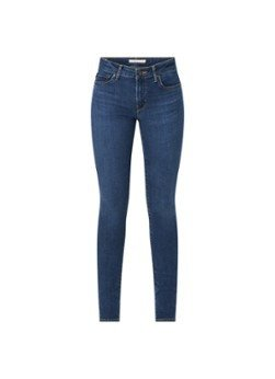 Levi's Levi's 711 Mid waist skinny jeans met donkere wassing