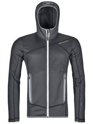 Ortovox Ortovox Hooded Fleece Jacket zwart
