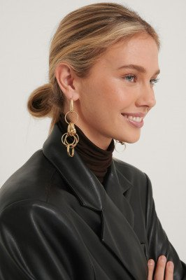 NA-KD Accessories NA-KD Accessories Messy Chain Earrings - Gold