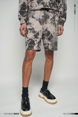 nu-in Limited Edition Pollution Print Relaxed Fit Lounge Shorts