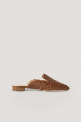 NA-KD Shoes Slip-In Sandaal - Brown
