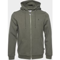 Q-Series Straight Zipped Hoodie Men Green