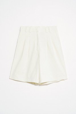 nu-in Front Pleat City Shorts