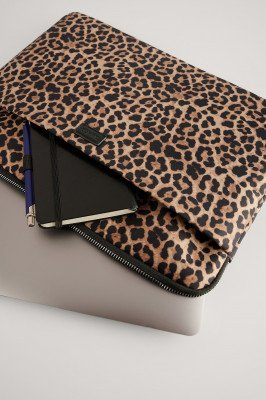NA-KD Accessories NA-KD Accessories Laptophoes Met Print - Brown