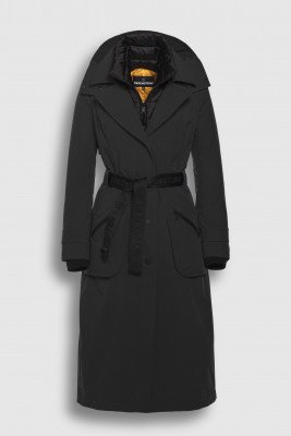 Creenstone Creenstone Technical trenchcoat with detachable front panel - Black