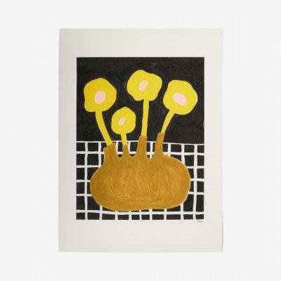 MADE.COM The Poster Club, Flowers in Brown Vase, print door Madelen Moellard, 50 x 70 cm