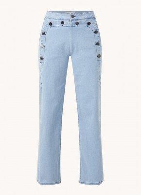 MUNTHE MUNTHE High waist wide fit jeans met sierknopen