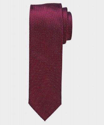 Michaelis Michaelis heren pindot zijden stropdas bordeaux