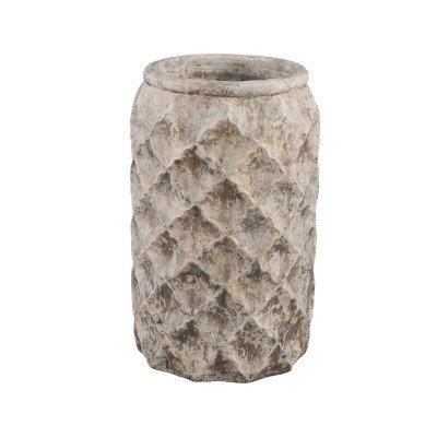 Ptmd isra groen cement diamant pot rond lang hoog