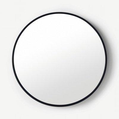 MADE.COM Bex ronde spiegel, 55 cm, zwart