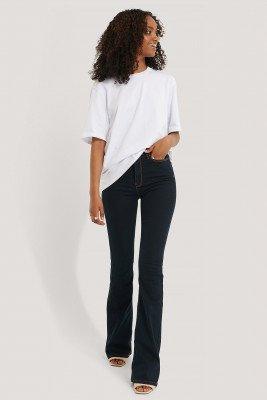 Trendyol Trendyol Uitlopende Jeans Met Hoge Taille - Blue