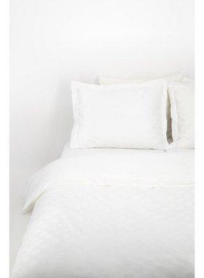 HEMA HEMA Dekbedovertrek - Hotel Katoen Satijn - Stip Wit (wit)