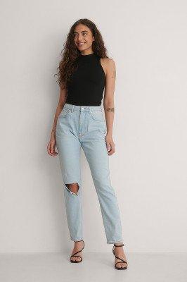 Jasmin Azizam x NA-KD Jasmin Azizam x NA-KD Rechte Jeans Met Hoge Taille - Blue