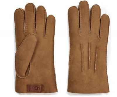 UGG UGG Contrast Sheepskin Glove Cognac Heren Handschoenen