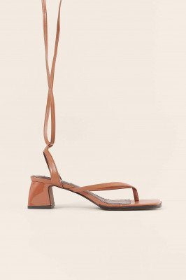 NA-KD Shoes NA-KD Shoes Sandalen Met Bandjes - Brown