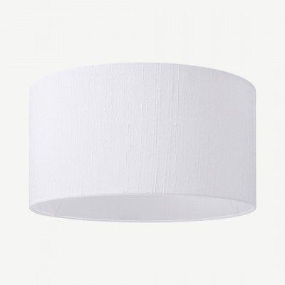 MADE.COM Idris lampenkap van zijde, 30 x 16cm, wit