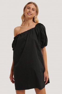 NA-KD Trend NA-KD Trend One Shoulder Cotton Dress - Black