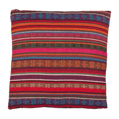 Xenos Kussen Mexican - rood/paars - 60x60 cm