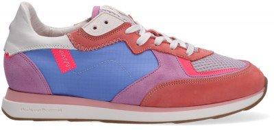 Floris van Bommel Rode Floris Van Bommel Lage Sneakers 85326