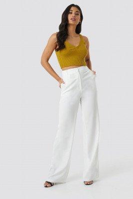 Trendyol Trendyol Yol Wide Pants - White