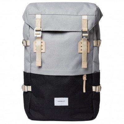 Sandqvist Sandqvist Harald Backpack Multi Grey/Black With Natural Leather