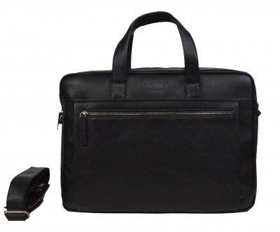DSTRCT DSTRCT Premium 15,6 inch 2-vak Laptoptas Zwart
