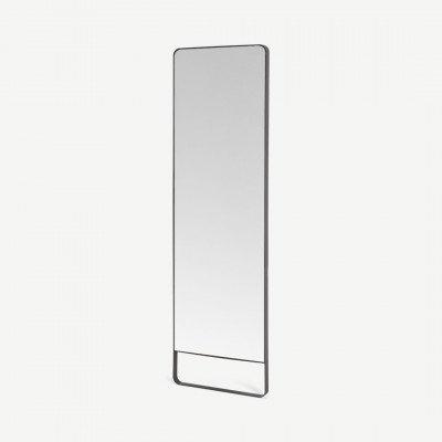 MADE.COM Arles vrijstaande spiegel 160 x 48 cm, koelgrijs