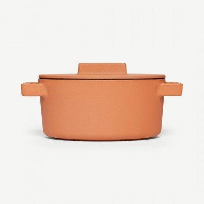 MADE.COM Sambonet gietijzeren ovalen stoofpan, 13 x 10 cm, curry