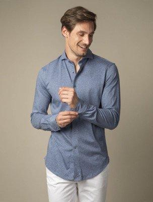 Cavallaro Napoli Cavallaro Napoli Heren Overhemd - Jano Overhemd - Blauw