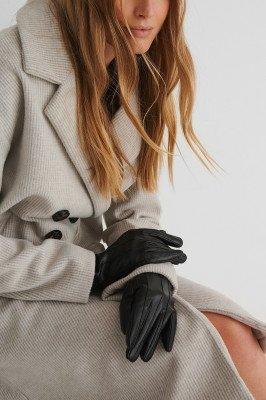 NA-KD Accessories Basic Handschoenen Met Naadlijn - Black