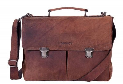 DSTRCT DSTRCT Wall Street Charlie A4 Laptoptas 15,4 inch Brown