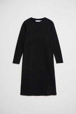 nu-in Seam Detail Sweatshirt Midi Dress