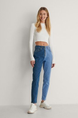 Lisa-Marie Schiffner x NA-KD Lisa-Marie Schiffner x NA-KD Organisch Denim Jeans - Blue