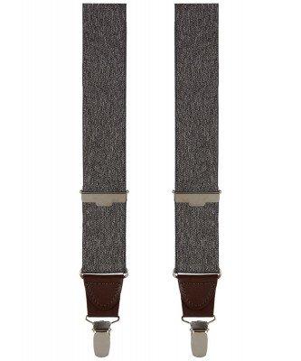 Profuomo Profuomo heren grijs mélange bretels