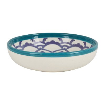 Xenos Schaal Marrakesh - turquoise - ø18 cm