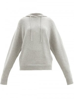 Matchesfashion Extreme Cashmere - No. 90 Be Cool Stretch-cashmere Hooded Sweatshirt - Womens - Grey