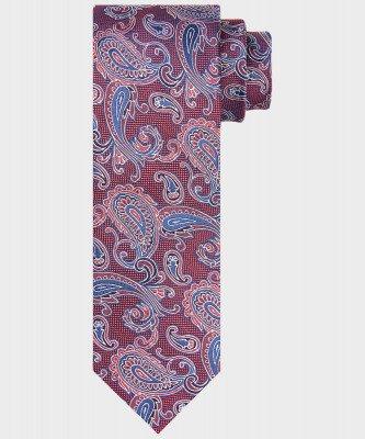 Michaelis Michaelis heren paisley print stropdas rood